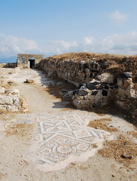 Des restes archéologiques en Crète