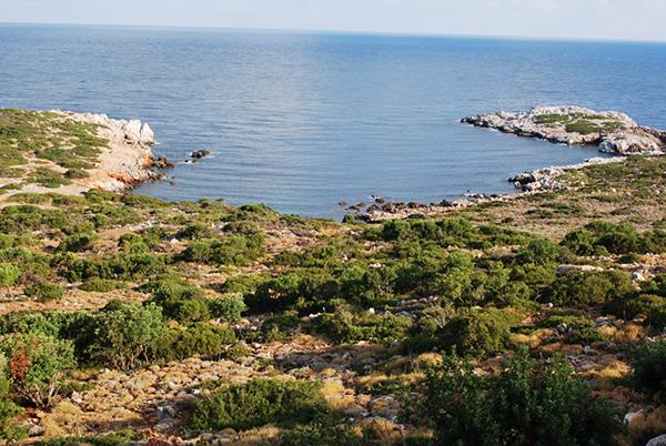 En direction de l'Ouest de la Crète - Aptera