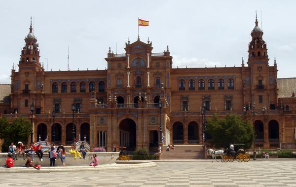 La plaza de Espana à séville