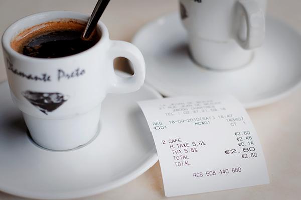 2 cafés pour 2,60 euros