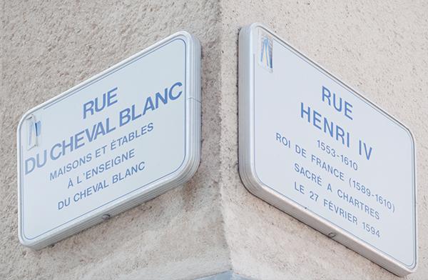 Panneaux de rues à Chartres
