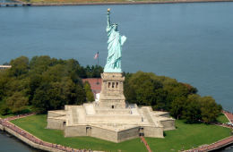 Vue sur la Statue de la Liberté à NYC