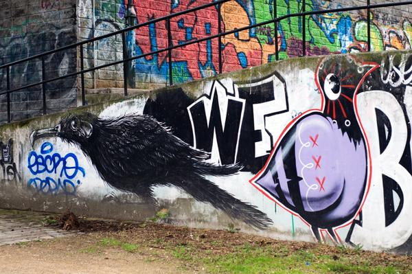 Street Art - ROA dans le quartier des Marolles