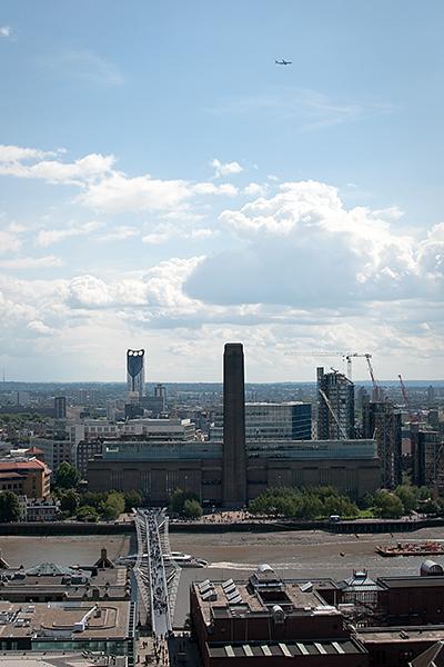St Paul's Cathedral depuis la Galerie de Pierre vue sur Tate modern