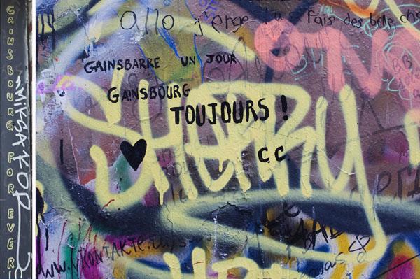Messages laissés par des fans à Serge Gainsbourg