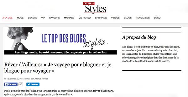 Interview ReverDailleurs sur L'Express Styles