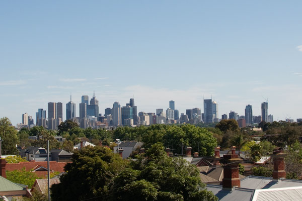 Point de vue sur melbourne CBD