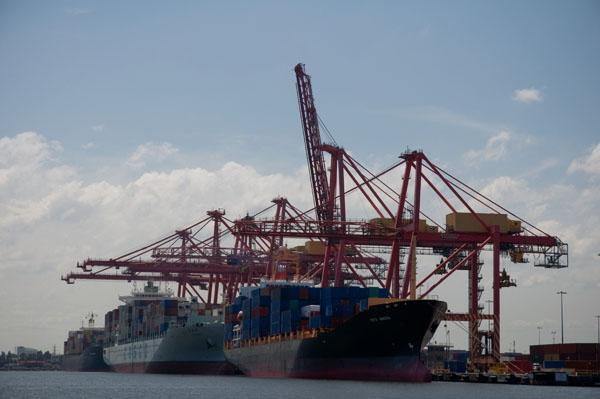 Chargement paquebots port industriel de melbourne