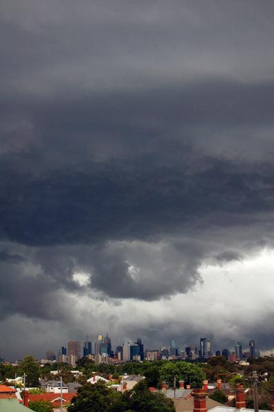 Le ciel de Melbourne avant un orage