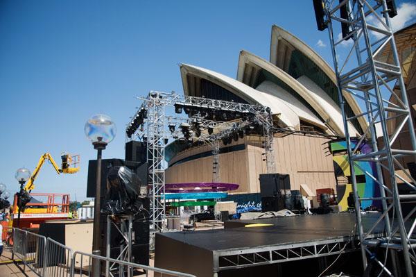 Sydney Opera House en préparation pour NYE 2011