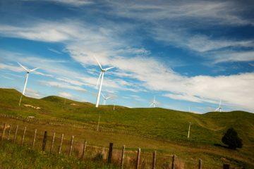 Eoliennes à l'approche de Palmerston North - Nouvelle Zélande