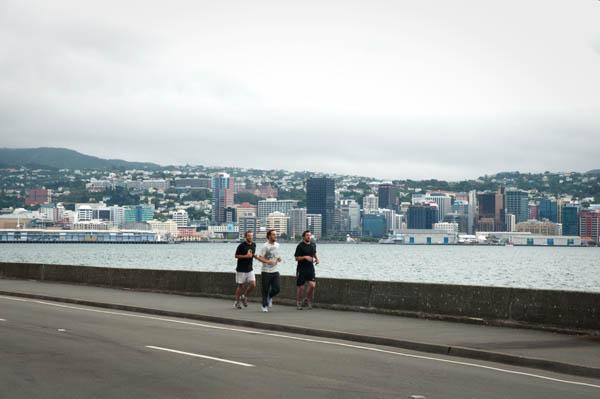 Vue sur le centre des affaires de Wellington