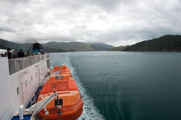 En Ferry pour l'ile du sud de nouvelle zélande