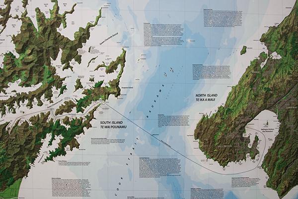 Plan de route du ferry Wellington Picton