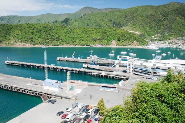 Port de Picton ile sud de nouvelle zélande