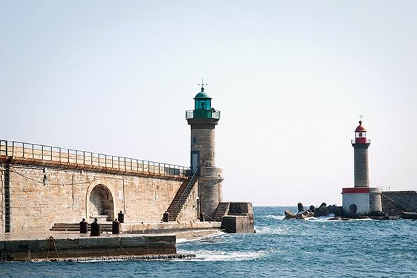 L'entrée du port de Bastia