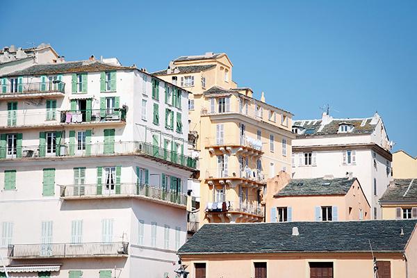 Les maisons de Bastia