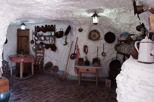 Maison grotte à Grenade en espagne