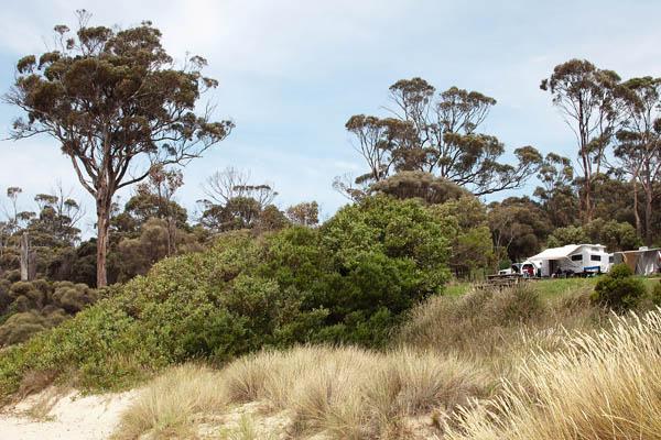Camping de Rocky Hills en Tasmanie