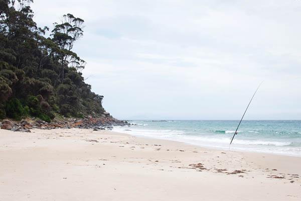 Pêche à Rocky Hills en tasmanie