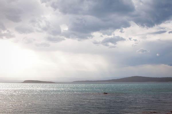 Coucher du soleil à Coles Bay en Tasmanie