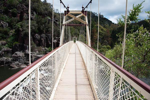 Pont suspendu Alexandra Bridge Tasmanie