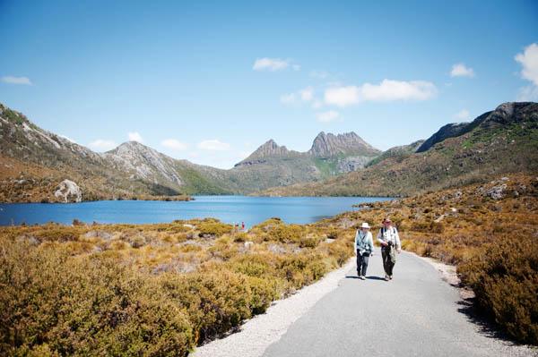Circuit de Dove Lake radonnée Craddle Moutain Tasmanie