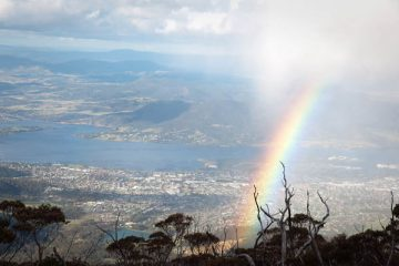 Point du vue arc en ciel Mont Wellington à Hobart Tasmanie