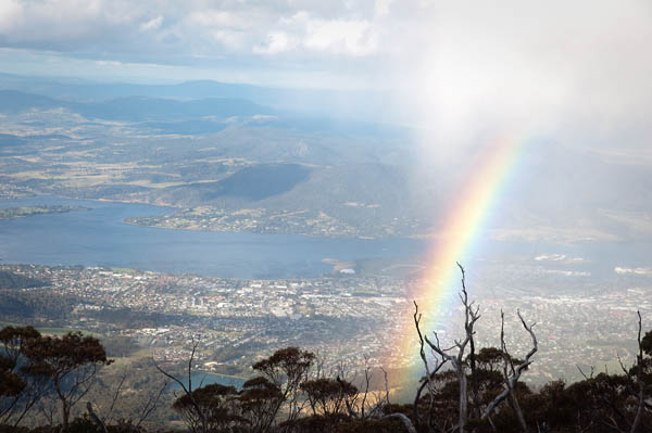 Point du vue arc en ciel Mont Wellington à Hobart Tasmanie