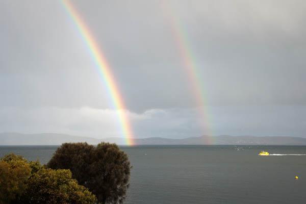 Arc-en-ciel à Hobart