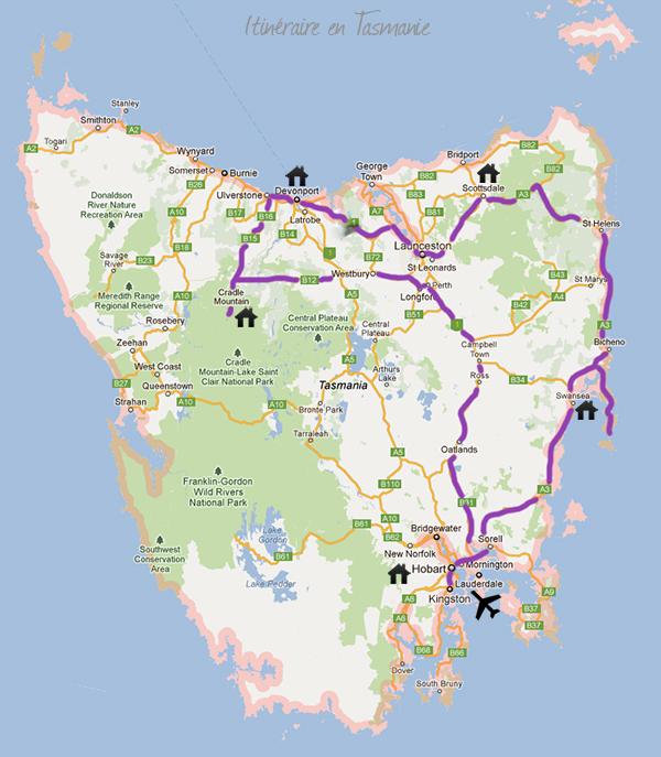 Itinéraire road trip en Tasmanie