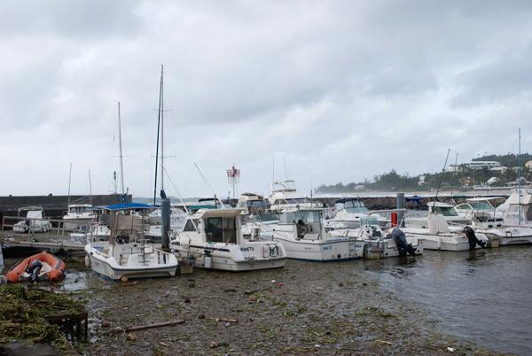 Port de St Gilles après le cyclone Gaël (Février 2009)