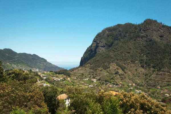 Point de vue depuis Agua de Pena à Madère