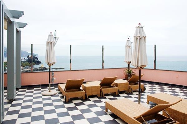 Reid's Palace Funchal : terrasse de relaxation du Spa