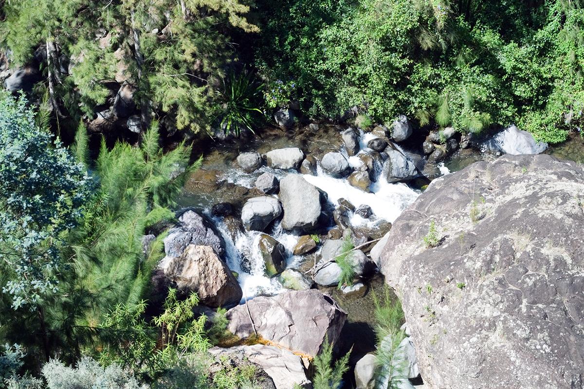 Cilaos depuis la randonnée Cascade Bras-Rouge