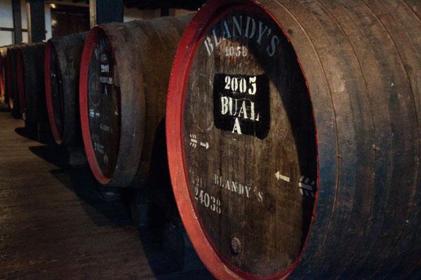 Les caves de Blandy's Wine Lodge à Funchal, Madère