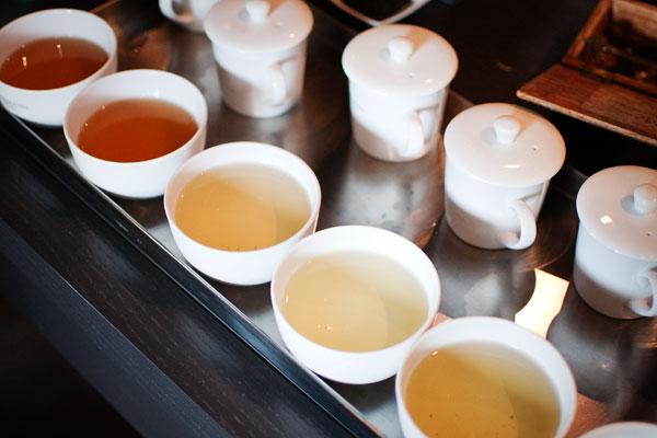 Couleurs des thés une fois infusés