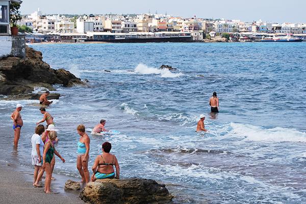 baignade en Crète en 2007