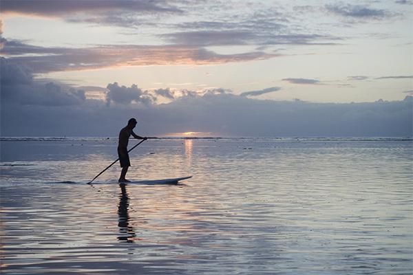Coucher du soleil sur l'ile de la Réunion en 2009