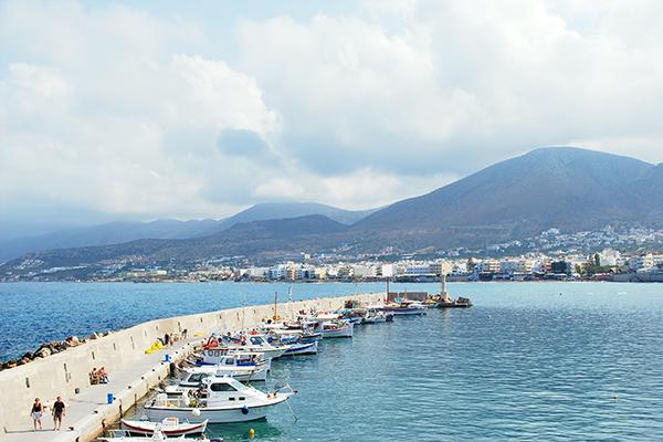 Un port de Crète en 2007