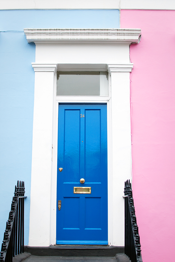 Maisons colorées de Portobello Road
