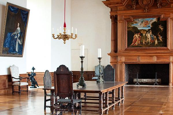 Salle à manger du Chateau de Hautefort