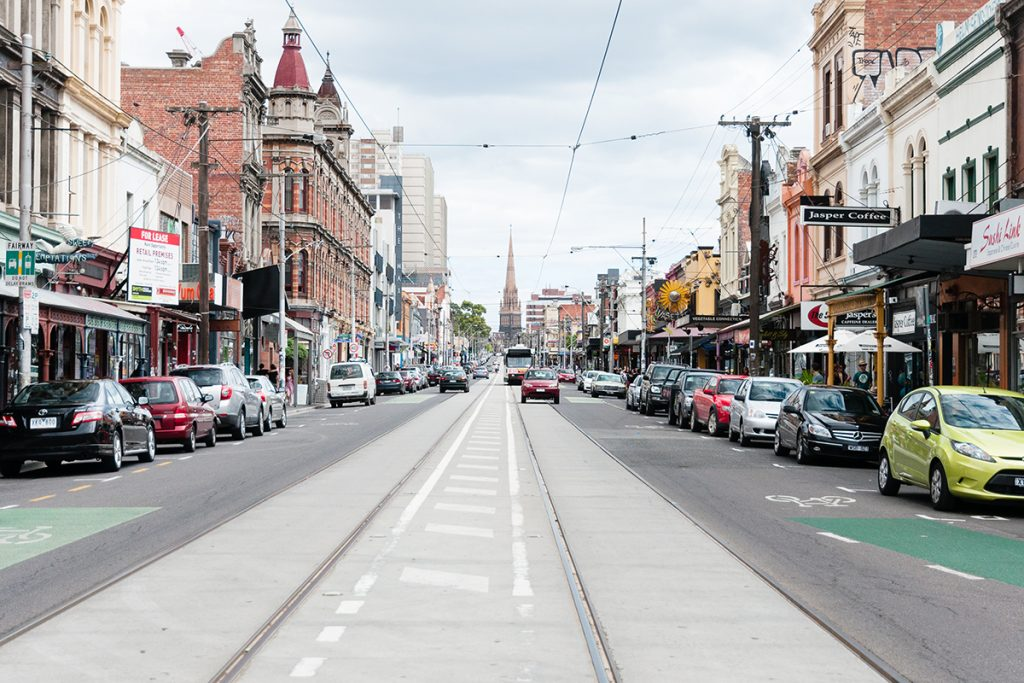 Une rue de Melbourne