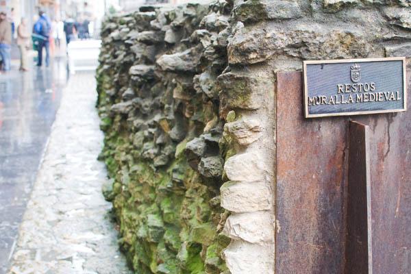 Mur vestige médiéval
