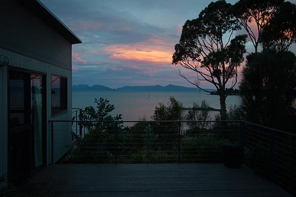 Vue sur Tasman sea depuis Swansea en Tasmanie