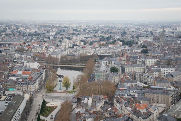 Vue panoramique sur Nantes depuis la Tour Bretagne