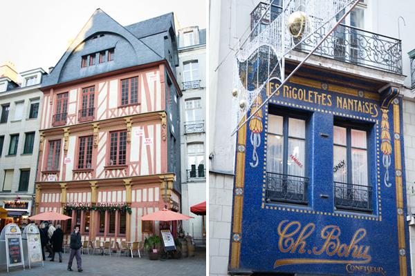 Quartier du Bouffay à Nantes