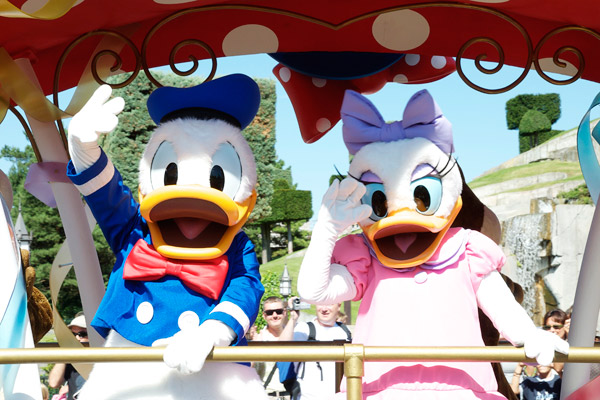 Donald et Daisy à Disneyland Paris