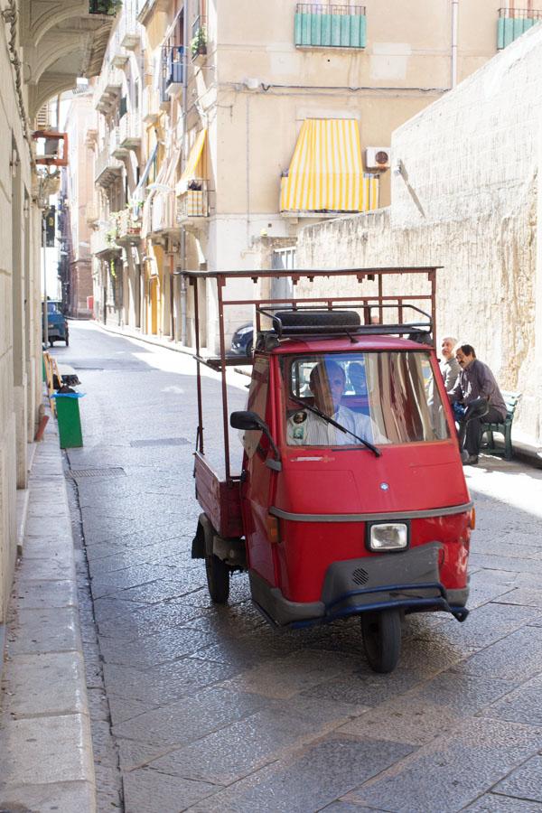 3 roues à Trapani, Sicile