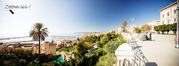 Point de vue depuis le belvédère de Sciacca